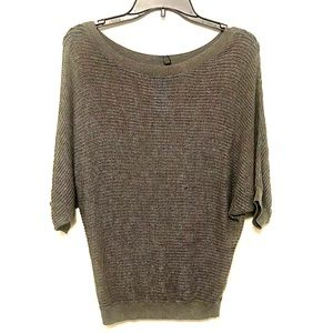 NWT Express Gray 3/4 Sleeve Sweater Blouse Top